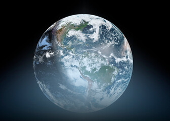 Wall Mural - Earth from Space. Best Internet Concept of global business from concepts series. Elements of this image furnished by NASA. 3D illustration