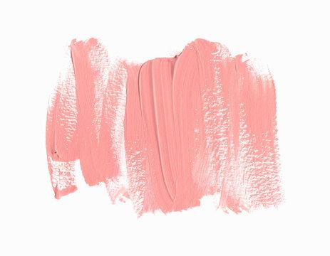 Lipstick smudge design background isolated on white background. Make-up design vector.