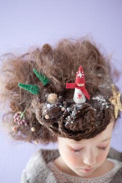 クリスマスのヘアアレンジ