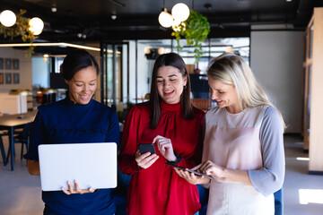 Business women using digital technology