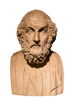 Ancient Greek poet Homer, the legendary author of the Iliad and the Odyssey.