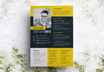UI and UX Designer Resume Layout with Orange Accents