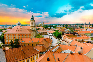 Sunset over Eger