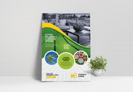 Garden and Farm Agricultural Flyer Layout
