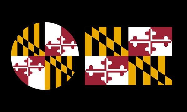 Flag of Maryland, Vector illustration
