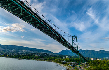 A pic of the Lions gate bridge from below