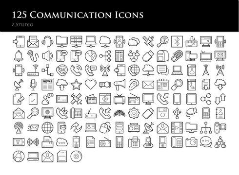 125 Communication Icons