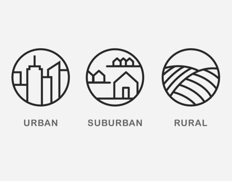 Urban Suburban Rural Landscape
