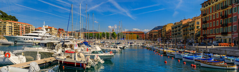 Wall Murals Ship Old wooden boats in Lympia port in Nice France