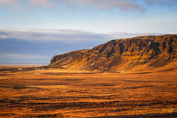 Iceland landscape mountain panorama summer scenic beautiful islandic nature outdoor