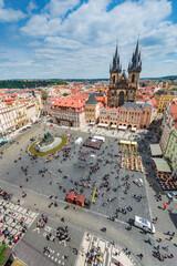 Old Town Square in Prague, Czech Republic.