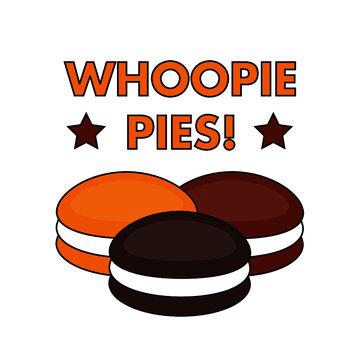 whoopie pie sign logo vector
