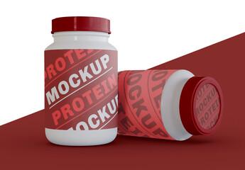 2 Supplement Jars Mockup