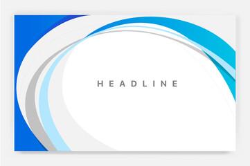 Sfondo azzurro e bianco con lo spazio per titolo e testi Fototapete