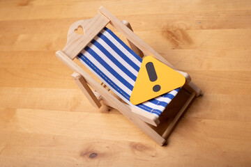 holiday summer vacation beach chair concept