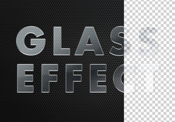 Photoshop Glass Effect Mockup