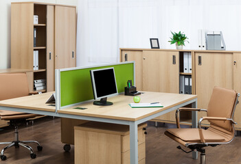 comfortable workplaces in modern office