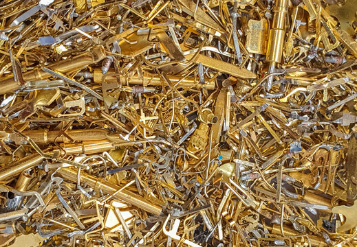 gold waste from electronic components