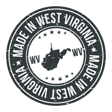 Made in West Virginia State USA Quality Original Stamp Design Vector Art.