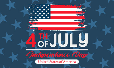 Independence Day in the United States. Fourth of July. Poster, template, greeting card, banner, background design.