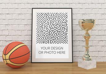 Basketball Sport Poster Mockup
