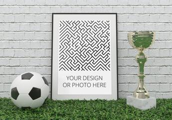 Football Sport Poster Mockup