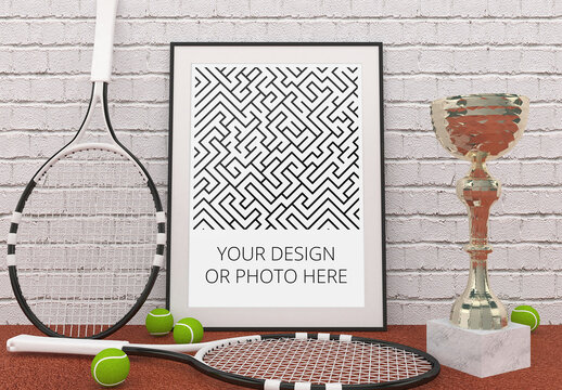 Tennis Sport Poster Mockup