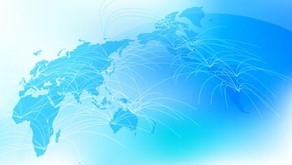 青いグローバルネットワークサイバーコミュニケーションITイメージ背景 Wall mural