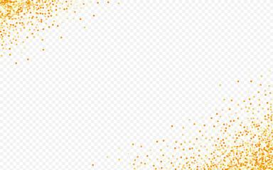 Yellow Rain Glamour Transparent Background.