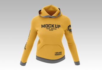 Women's Hooded Sweatshirt Mockup