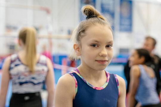 Portrait of young female gymnast