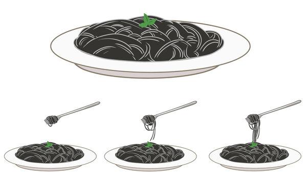 スパゲッティ(イカスミパスタ)