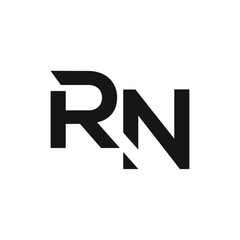 rn initial letter vector logo icon