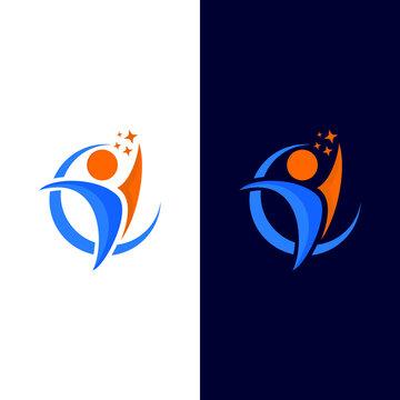 people success leader coaching symbol logo