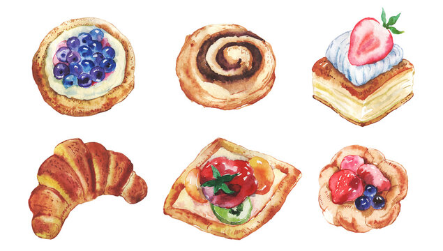 Watercolor Pastries Photos Royalty Free Images Graphics Vectors Videos Adobe Stock