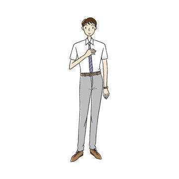 夏服のビジネスマン