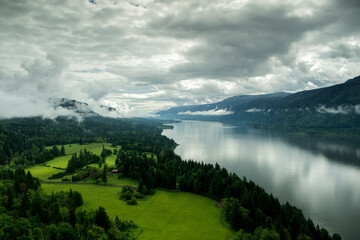 The Columbia Gorge from Cape Horn, Washington Taken in Spring