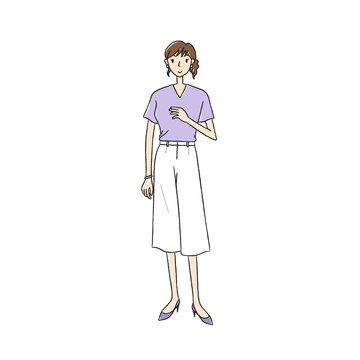 夏服のビジネスウーマン