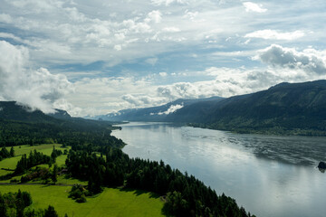 The View from Cape Horn in the Columbia Gorge, Washington, Taken in Spring