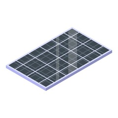 Modern solar panel icon. Isometric of modern solar panel vector icon for web design isolated on white background