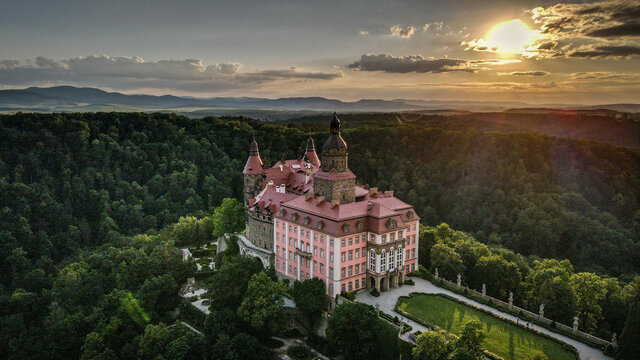 Książ Castle in Lower Silesia, Poland