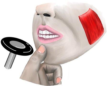 Masseter reflex is the examination of mandibular nerve reflex.