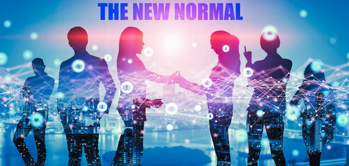 New normal concept effected by COVID 19 coronavirus that changes our lifestyle to new normal...