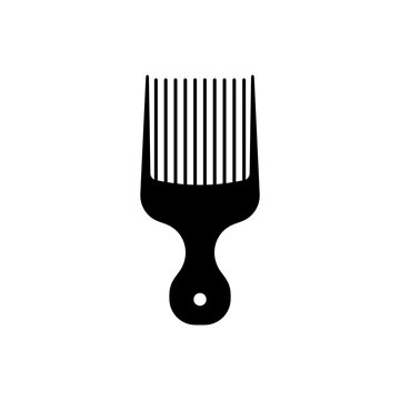 Afro pick icon.flat vector graphic in white background.