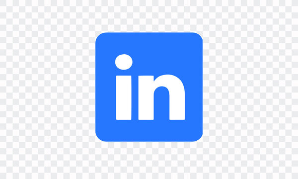 linkedin vector logo. Vector logo on a white background.
