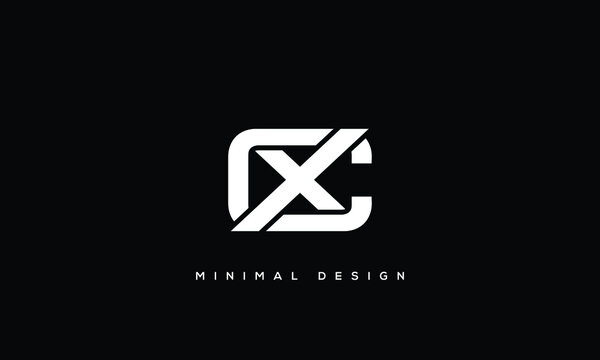 alphabet letters monogram icon logo CX or XC