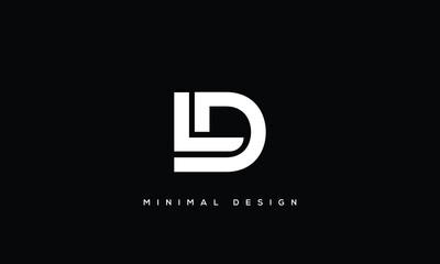 Fototapeta alphabet letters monogram icon logo DL or LD obraz