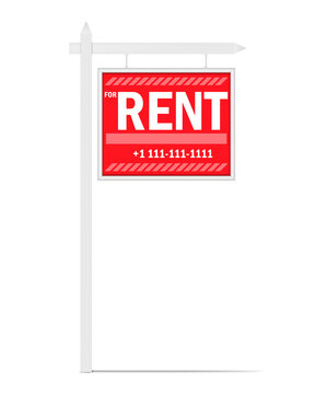 For rent yard sign, editable vector template