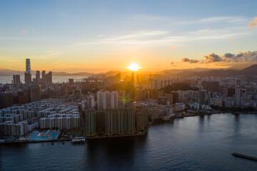 Wall Mural - Hong Kong sunset