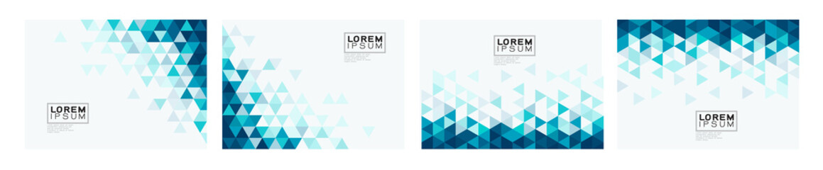 Set of colorful gradient triangle on white background with space. Modern background for business or technology presentation. vector illustration